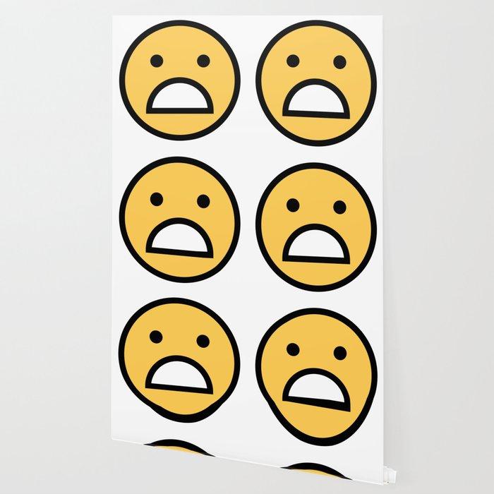 Smiley Face Cute Big Mouth Unhappy Smiling Face Wallpaper