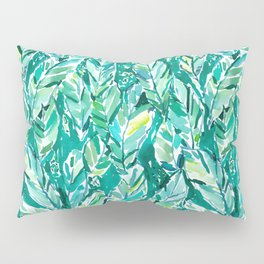 BANANA LEAF JUNGLE Green Tropical Pillow Sham