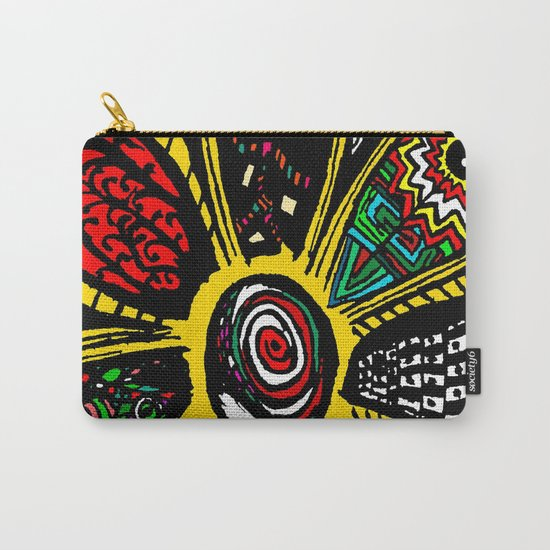 Patchwork Hippy Flower Carry-All Pouch