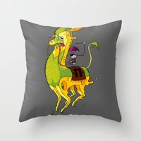 lama Throw Pillows featuring Lama by ART OF SOOL
