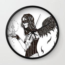 Angel of the Lyke-Wake Dirge Wall Clock