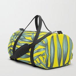 Yellow palm pattern Duffle Bag