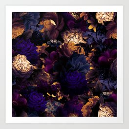 melancholy flowers big seamless pattern 01 late sunset Kunstdrucke