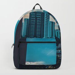 Downtown City Scene (Color) Backpack