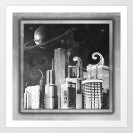 Swirl City Art Print