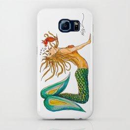 Mermaid Yoga Up Dog Pose iPhone Case