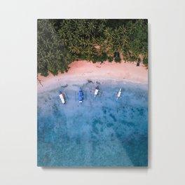 Aerial: El Nido Beach Metal Print