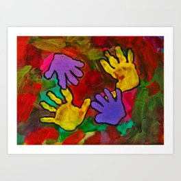 Loving Hands Art Print