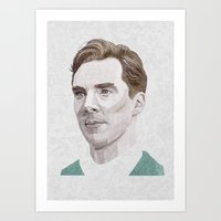 cumberbatch Art Prints featuring Benedict Cumberbatch by Zaneta Antosik
