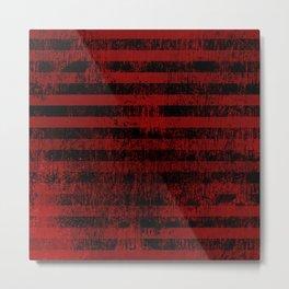 Blood Stripes Metal Print