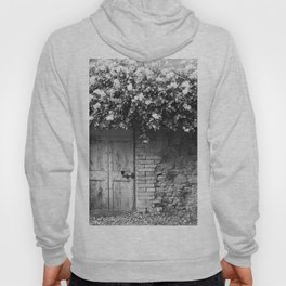 Old Italian wall overgrown with roses Hoody