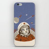 soviet iPhone & iPod Skins featuring Soviet Space Cat by Chris Kawagiwa