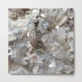 Phantom Crystal Cluster Metal Print