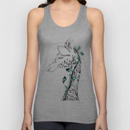 Poetic Giraffe Unisex Tank Top