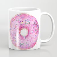 donut Mugs featuring DONUT!!!! by annelise johnson
