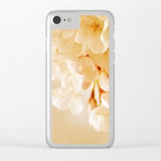 Pastel Blossoms Clear iPhone Case