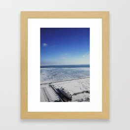 Frozen Lake Michigan 2!  Framed Art Print