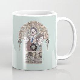 Carry On My Wayward Son (Castiel, Sam and Dean Winchester) Coffee Mug