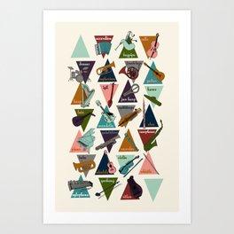 Alphabet of Instruments Art Print