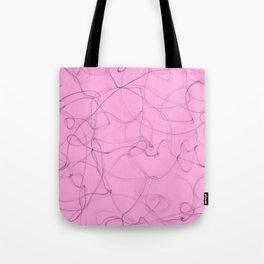 Creamy Strawberry pink cigar smoke lines design Tote Bag