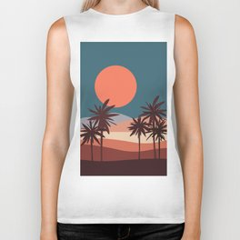 Abstract Landscape 13 Portrait Biker Tank