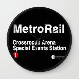 Crossroads Arena Special Events Station Wall Clock