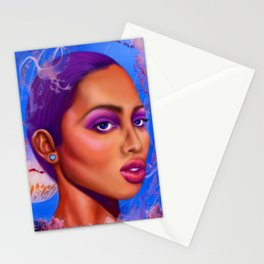 Woman Underwater: Ready to Sting Stationery Cards