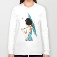 sakura Long Sleeve T-shirts featuring Sakura by Luiza Abend