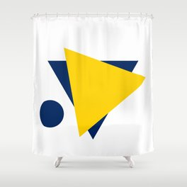 Football Abstract Shower Curtain