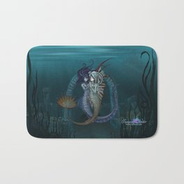 Fantasy style Anime / Manga mermaids Bath Mat