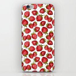 Watercolor Strawberries iPhone Skin