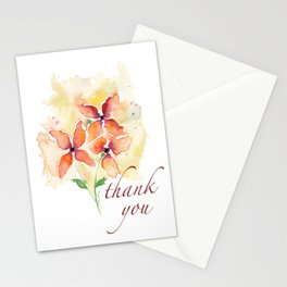 Thank You Flowers I Stationery Cards