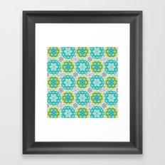 Geodome - Green Framed Art Print