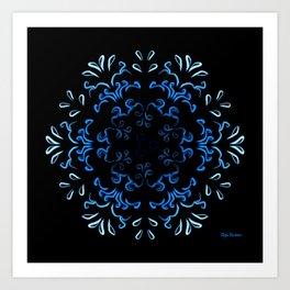 """Hakakā a hohonu"" (lucha profunda en invierno) Art Print"