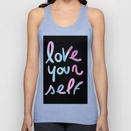 Love yourself Graffiti Typography Words Unisex Tank Top