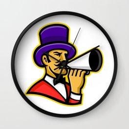 Circus Ringleader or Ringmaster Mascot Wall Clock