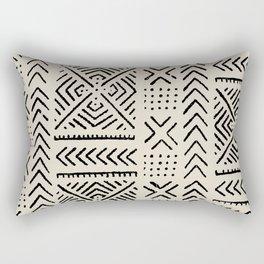 Line Mud Cloth // Bone Rectangular Pillow