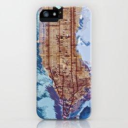 Map of Manhattan iPhone Case