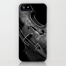 Black and White Violin iPhone Case