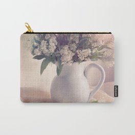 Still life with white privet flowers Carry-All Pouch