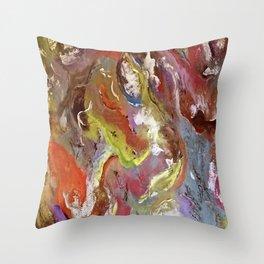 Acrylic Texture Throw Pillow