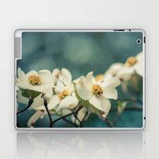 Spring Botanical -- White Dogwood Branch in Flower Laptop & iPad Skin