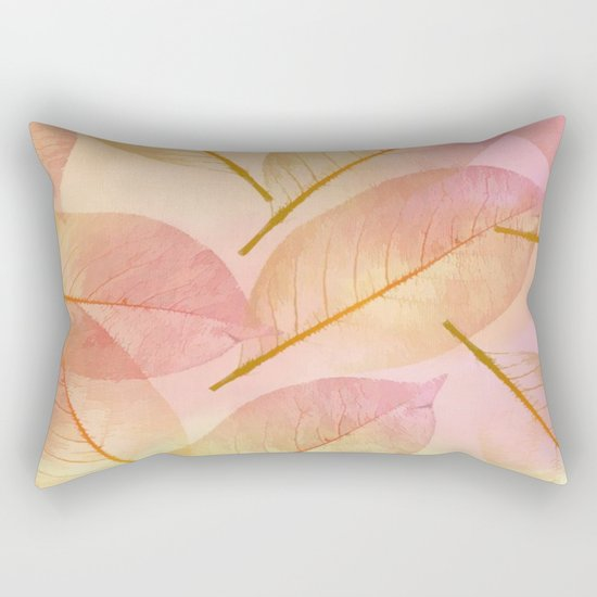 Pastel Fall Leaf Abstract Rectangular Pillow