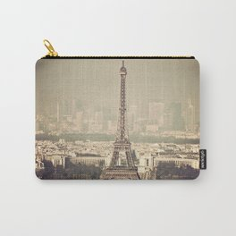 paris skyline aerial view with eiffel tower Carry-All Pouch