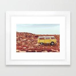 yellow Camper Framed Art Print