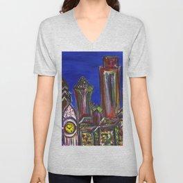 Philly Skyline LOVE Unisex V-Neck