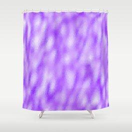 Neon Lilac Mottled Metallic Foil Shower Curtain