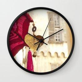 Golden Heart Wall Clock