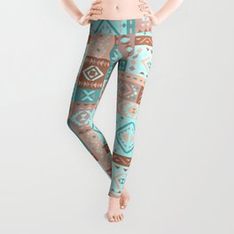 Geometric pattern  with ethnic ornaments. Leggings