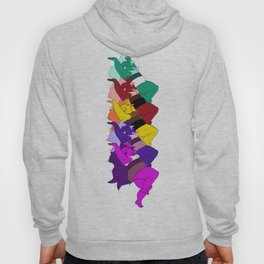 Amethyst Falling in a Cool Color Palette Hoody